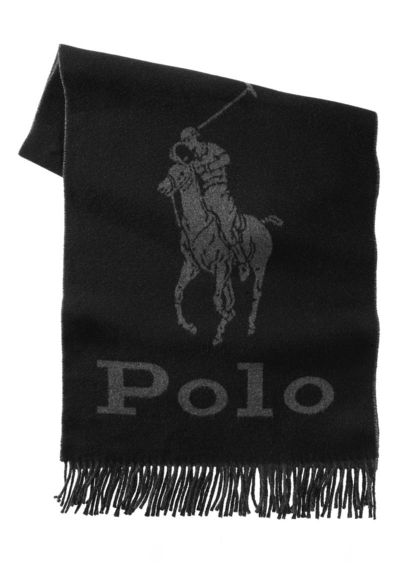 Ralph Lauren Polo Polo Ralph Lauren Men's Oversized Logo Scarf