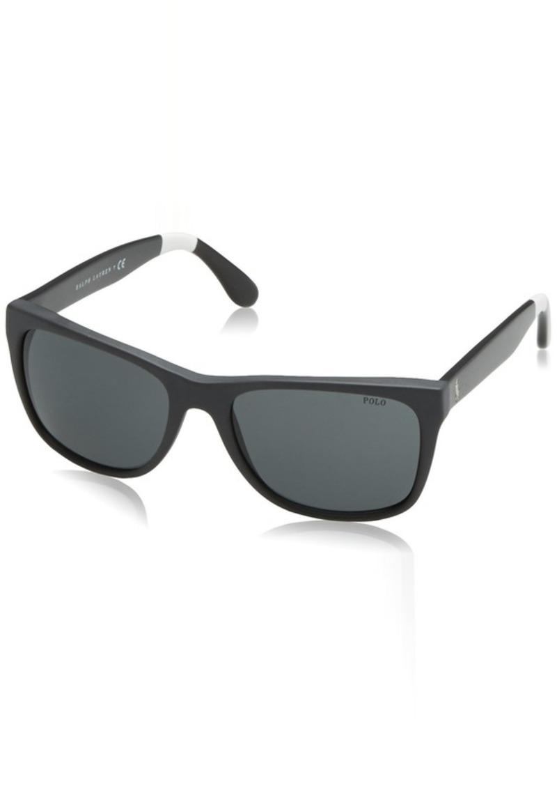 Ralph Lauren Polo Polo Ralph Lauren Men's PH4106 Rectangular Sunglasses  57 mm