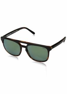 Ralph Lauren Polo Polo Ralph Lauren Men's PH4125 Square Sunglasses Top Black On Havana/Flash Green