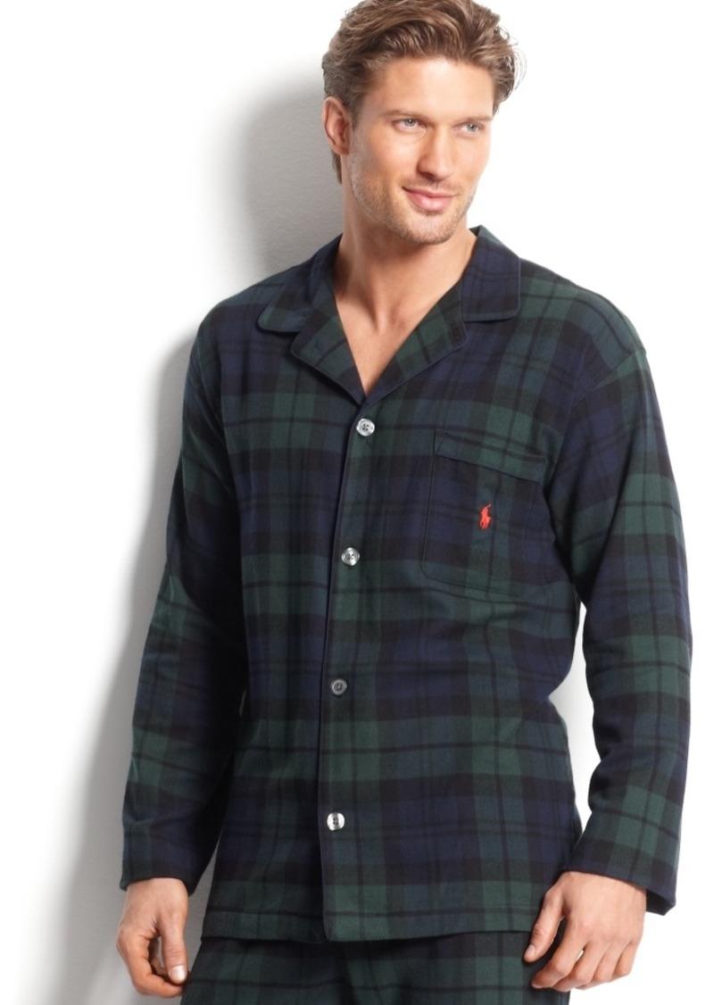 Ralph Lauren Polo Polo Ralph Lauren Men's Plaid Flannel Pajama Top