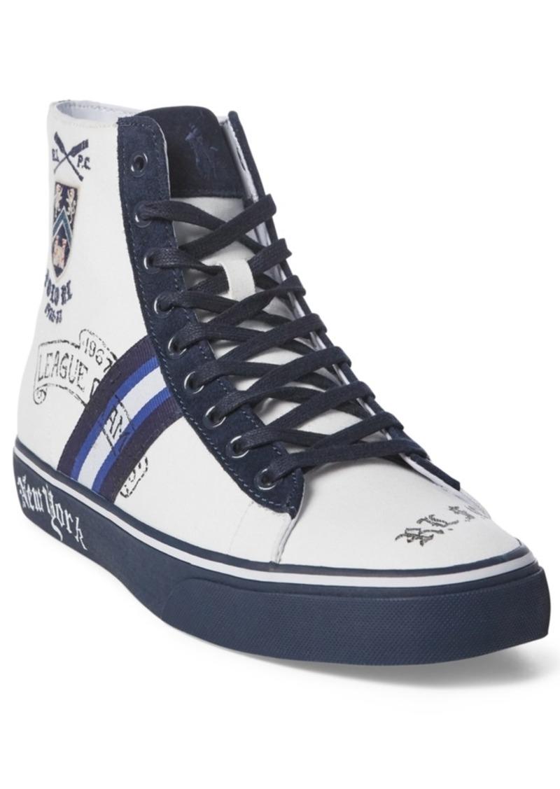 Ralph Lauren Polo Polo Ralph Lauren Men's Solomon Crested High-Top Sneakers Men's Shoes