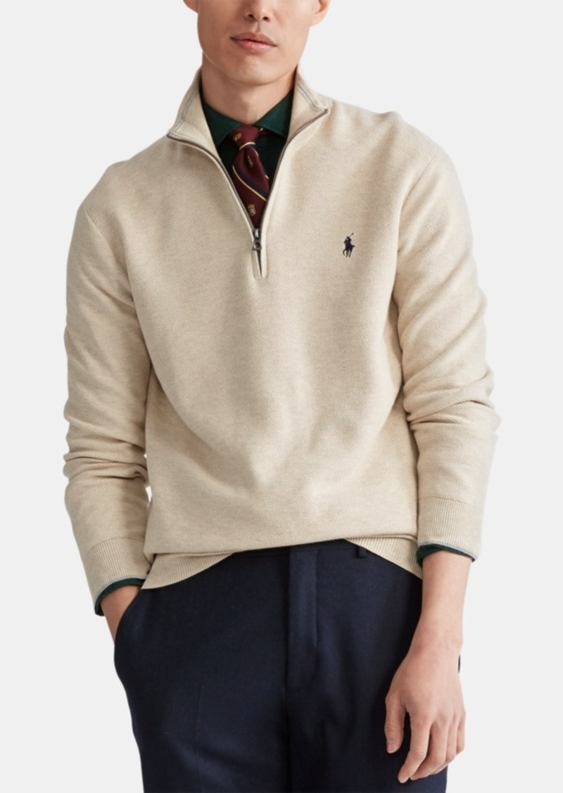 Ralph Lauren Polo Polo Ralph Lauren Men's Textured Quarter-Zip Sweater