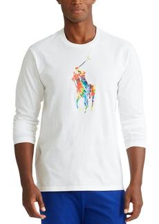 Ralph Lauren Polo Polo Ralph Lauren Men's Tie-Dye Big Pony Logo Lightweight Pajama Top