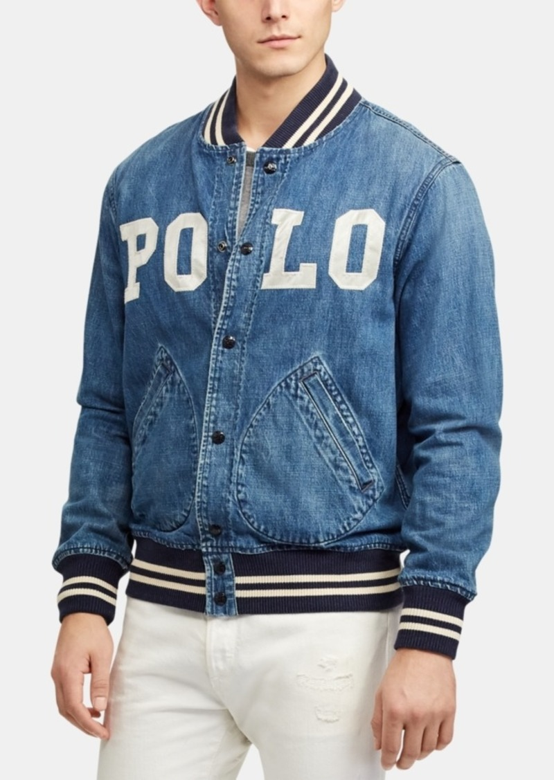 23d60d61 Polo Ralph Lauren Men's Varsity-Inspired Denim Jacket