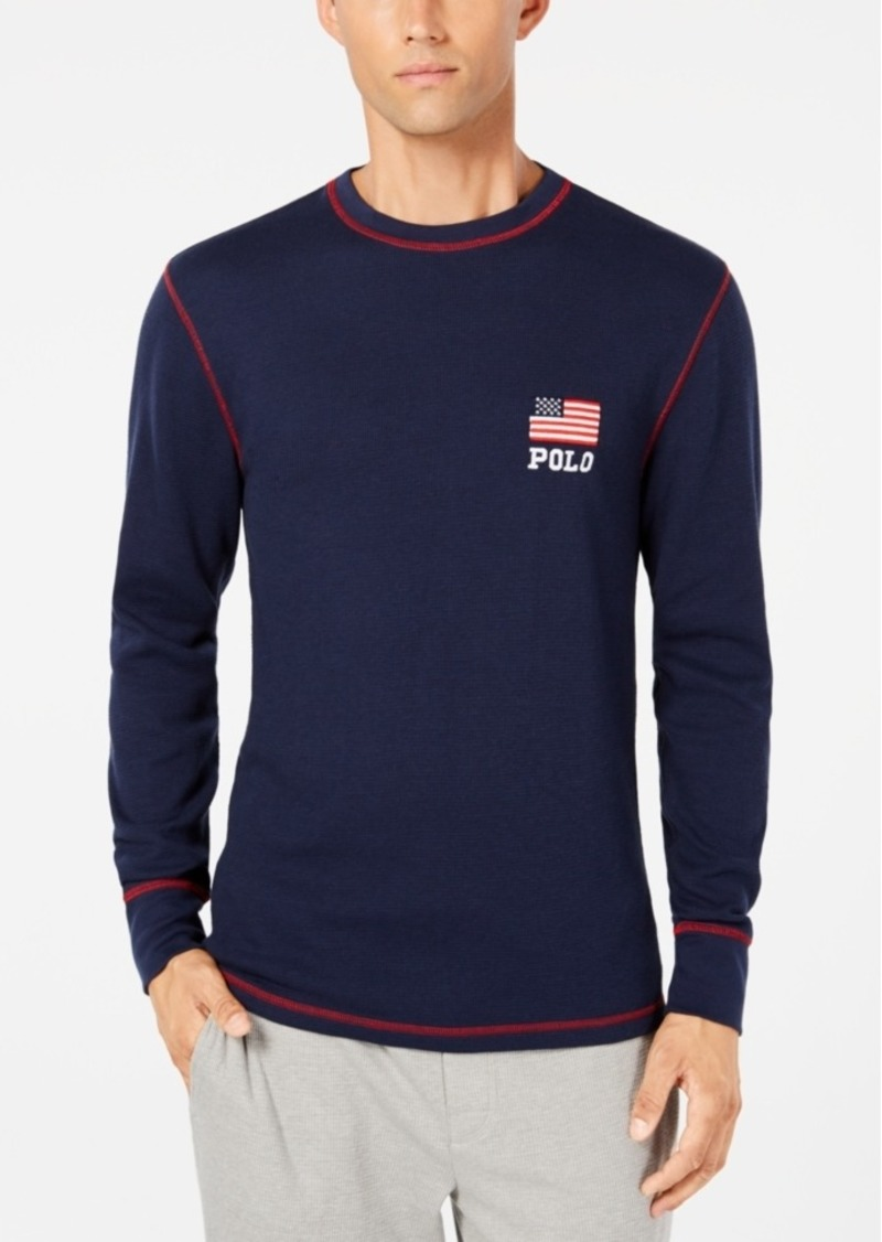e5591aa12 Ralph Lauren Polo Polo Ralph Lauren Men's Waffle-Knit Thermal with ...