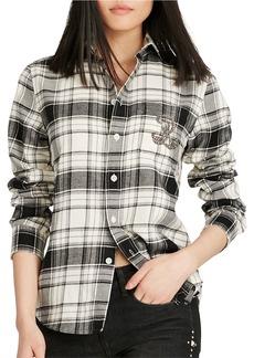 Ralph Lauren: Polo POLO RALPH LAUREN Monogram Plaid Flannel Shirt