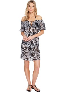 Ralph Lauren: Polo Polo Ralph Lauren Mosaic Print Cotton Dress Cover-Up