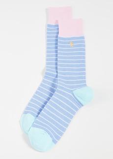 Ralph Lauren Polo Polo Ralph Lauren Oxford Stripe Slack Socks