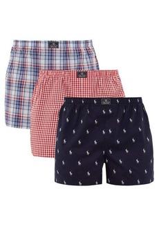 Ralph Lauren Polo Polo Ralph Lauren Pack of three cotton boxer shorts