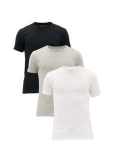 Ralph Lauren Polo Polo Ralph Lauren Pack of three logo-embroidered cotton T-shirts