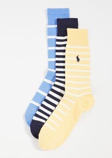 Ralph Lauren Polo Polo Ralph Lauren Pastel Stripes Socks 3 Pack