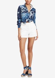 Ralph Lauren: Polo Polo Ralph Lauren Patchwork Knit Oxford Cotton Shirt