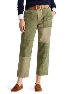 Patchwork Straight-Leg Pants