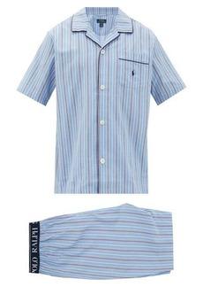 Ralph Lauren Polo Polo Ralph Lauren Paul logo-embroidered striped cotton pyjamas