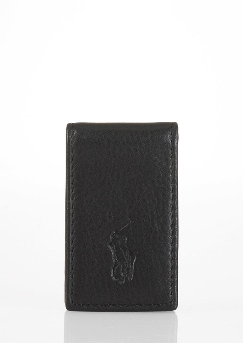 Ralph Lauren Polo Polo Ralph Lauren Pebbled Leather Money Clip