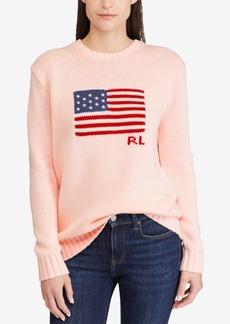 Ralph Lauren: Polo Polo Ralph Lauren Pink Pony Graphic Cotton Sweater
