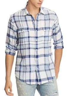 Ralph Lauren Polo Polo Ralph Lauren Plaid Linen Classic Fit Button-Down Workshirt