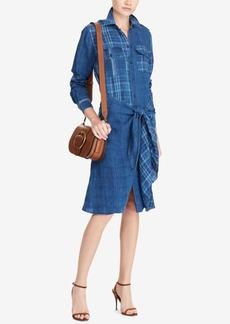 Ralph Lauren: Polo Polo Ralph Lauren Plaid Linen Shirtdress