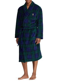 Ralph Lauren Polo Polo Ralph Lauren Plaid Plush Robe