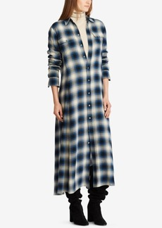Ralph Lauren: Polo Polo Ralph Lauren Plaid Twill Maxidress