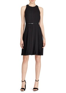 Polo Ralph Lauren Pleated Belted Dress