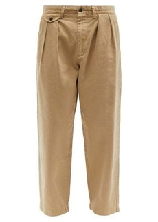 Ralph Lauren Polo Polo Ralph Lauren Pleated cotton-twill chino trousers