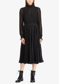 Ralph Lauren: Polo Polo Ralph Lauren Pleated Georgette Dress