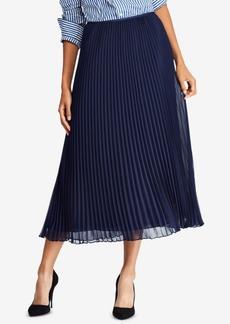 Ralph Lauren: Polo Polo Ralph Lauren Pleated Georgette Midi Skirt