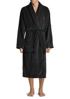 Ralph Lauren Polo Polo Ralph Lauren Plush Long-Sleeve Shawl Collar Robe