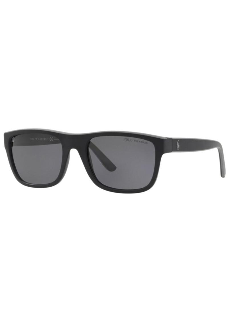 Ralph Lauren Polo Polo Ralph Lauren Polarized Sunglasses, PH4145 56