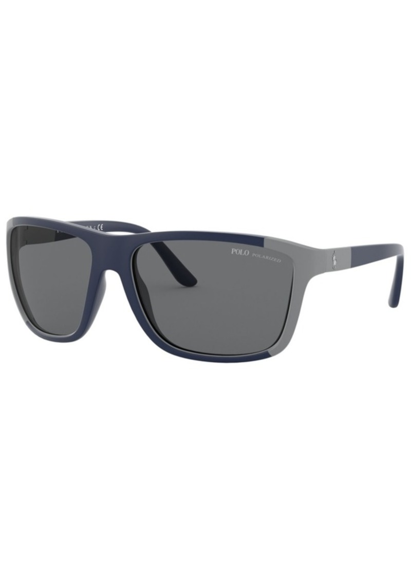 Ralph Lauren Polo Polo Ralph Lauren Polarized Sunglasses, PH4155 62