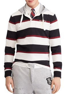 Polo Ralph Lauren Polo Striped Hooded Rugby Shirt