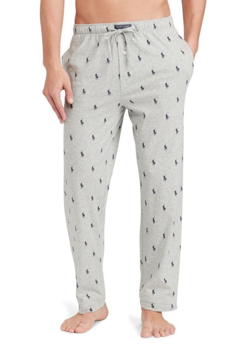 Ralph Lauren Polo Polo Ralph Lauren Pony-Printed Jersey Pajama Pants