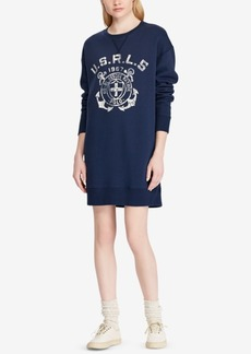 Ralph Lauren: Polo Polo Ralph Lauren Printed Fleece Sweater Dress