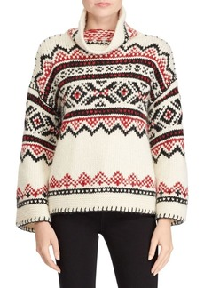 Ralph Lauren: Polo Printed Funnelneck Sweater