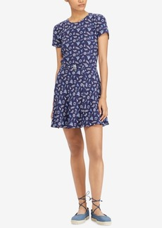 Ralph Lauren: Polo Polo Ralph Lauren Printed Open-Back Fit & Flare Dress