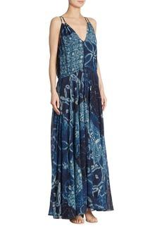 Polo Ralph Lauren Printed Silk Georgette Maxi Dress