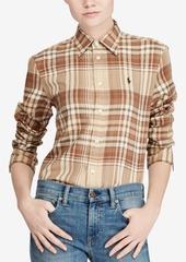 Ralph Lauren: Polo Polo Ralph Lauren Relaxed-Fit Plaid Twill Cotton Shirt