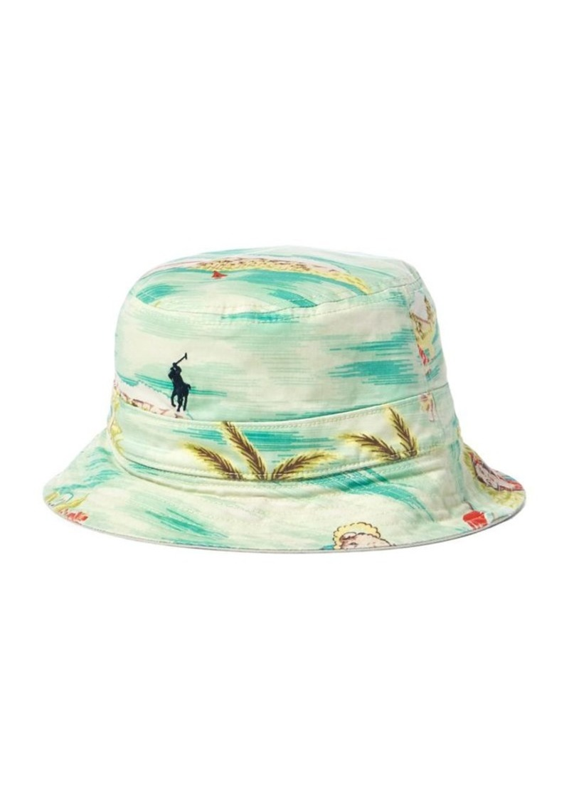 5fea0d9e4b63f SALE! Ralph Lauren Polo Polo Ralph Lauren Reversible Tropical Bucket Hat
