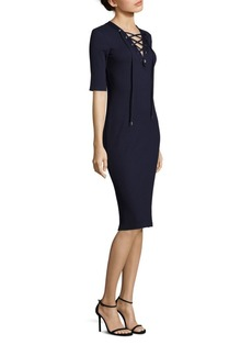 Ralph Lauren: Polo Polo Ralph Lauren Rib-Knit Lace-Up Dress