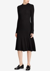 Ralph Lauren: Polo Polo Ralph Lauren Ribbed Drop-Waist Wool Dress