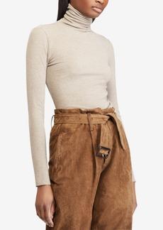 Ralph Lauren: Polo Polo Ralph Lauren Ribbed Knit Turtleneck Top