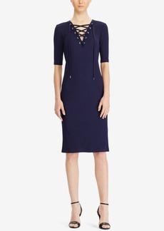 Ralph Lauren: Polo Polo Ralph Lauren Ribbed Lace-Up Dress