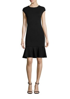 Polo Ralph Lauren Ruffle-Hem Ponte Dress