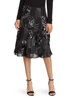 Polo Ralph Lauren Sequin Midi Skirt