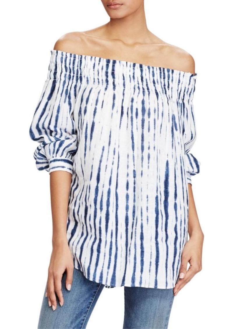 b3d8df835120a Ralph Lauren  Polo Polo Ralph Lauren Shibori Off-The-Shoulder Linen ...