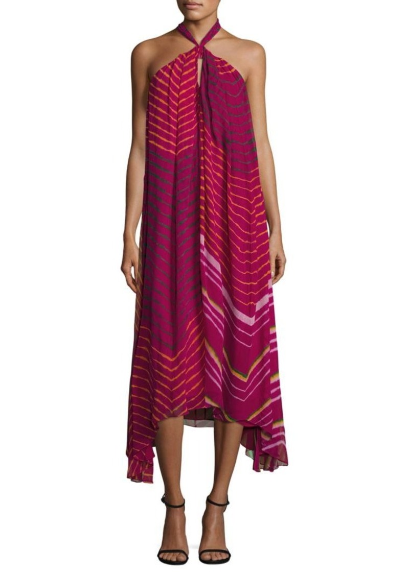 Ralph Lauren: Polo Polo Ralph Lauren Shibori Silk Halter Dress