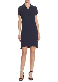 Polo Ralph Lauren Short Sleeve Silk Polo Dress