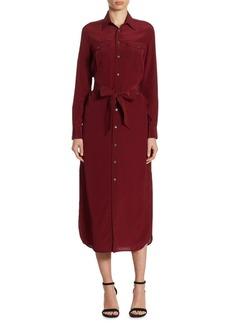 Polo Ralph Lauren Silk Crepe Shirtdress