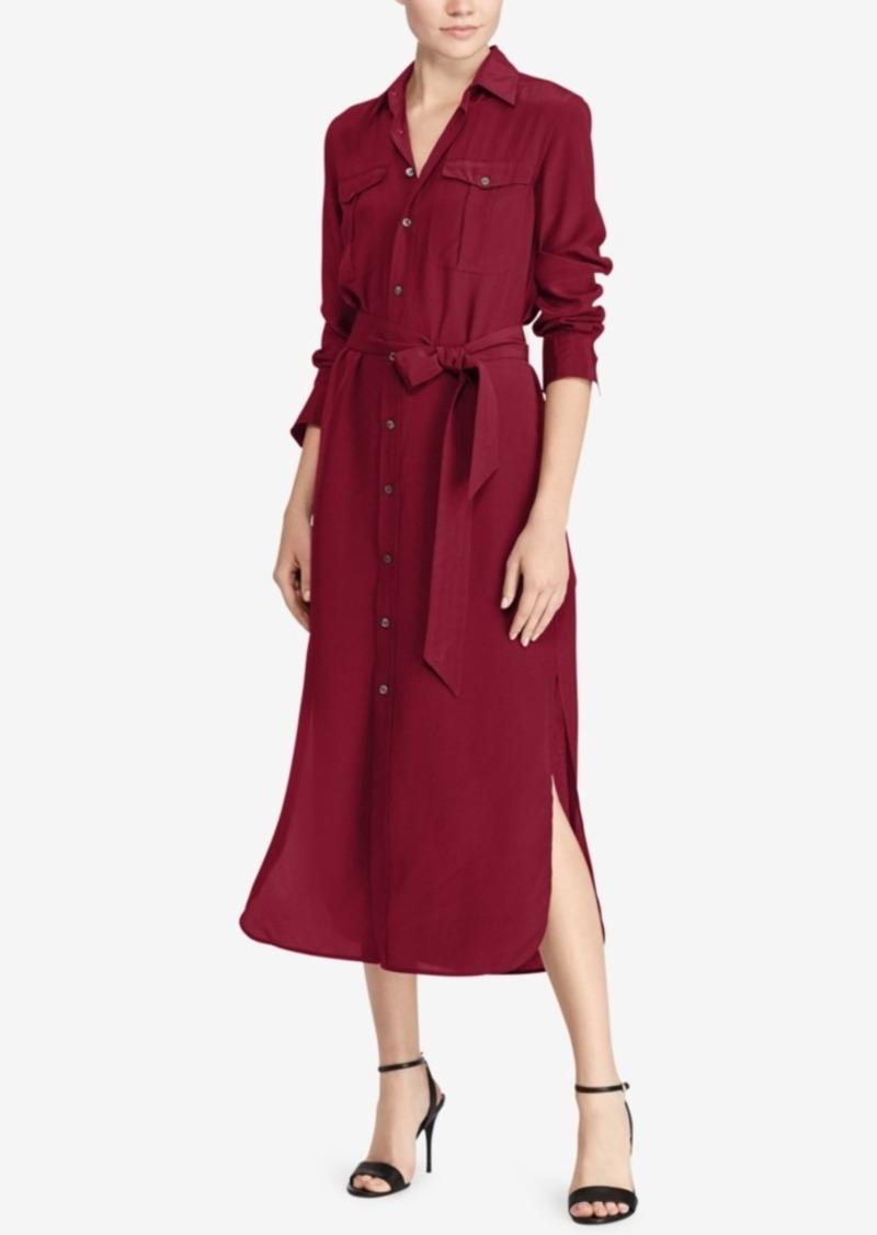 Ralph Lauren Polo Polo Ralph Lauren Silk Crepe Shirtdress